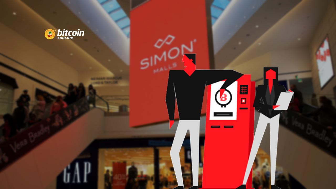 Bitstop instala cajeros ATM BTC en centros comerciales de Simon Malls